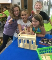 Elementary Students Tackling Building Challenges