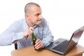 Drink beer at work