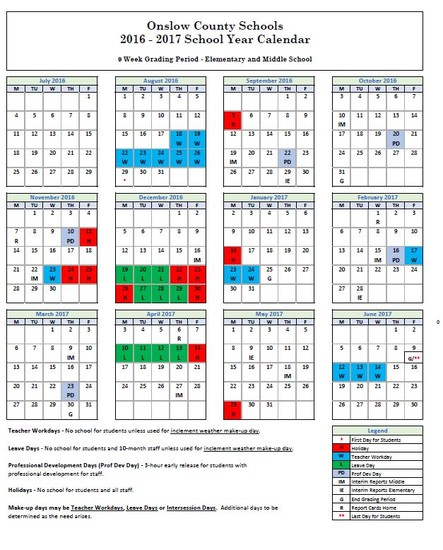 2016-17 School Calendar Release | Smore Newsletters for