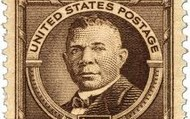 Booker T. Washington on a stamp