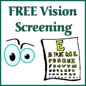 Vision Screening - Mon, Mar 28 from 2-4pm