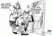 Fourth Amendment: Unreasonable search and seizure