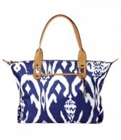 Blue ikat bag $ 55.00