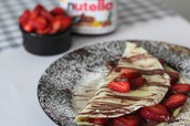 Nutella Strawberry Crepes