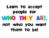 Learning to accept people