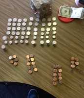 Here is what $60 in change looks like.