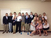 SHJH Honor Society Induction