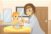 Baby with a nurse