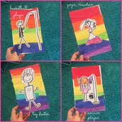 Beautiful Rainbow Paper and Self Portraits!