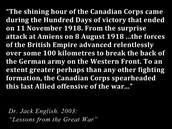 Lessons from the great war saying