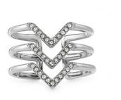 Pave` Chevron Ring (silver)