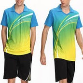 We sell tennis clothes