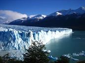 Side View of the Perito Moreno Glacier