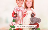 Philly Phanatic and Big Al Cake Toppers
