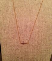 SOLD!!  Interlock Cross necklace - Gold