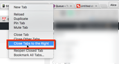 Google Chrome: Close Tabs to the Right