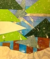 Kindergarten Winter Tree Collage