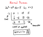 Normal Synthetic Division