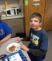 Some apple pie from Mrs. Mejac, just for Brian. . . We're jealous!