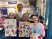 Health Fair Poster Winners with Mrs. Hall