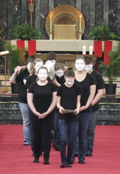 Annual Passion Mime Presentation Palm Sunday @ 11:00 and 7:00 pm Masses