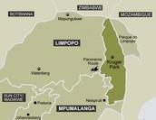 Kruger national parkeren mapa
