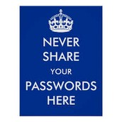 Don't share your private information