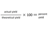 Theoretical Yield and Percent Yield