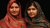 Malala and her mom.