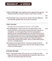 Taste of the world menu!