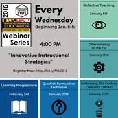 Innovative Instructional Strategies Webinar Series