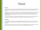 Pascal begin