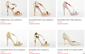 Latest Fashion of Gold High Heel Shoes