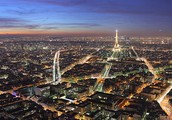 Beautiful view over Paris.