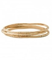 Rhea bangles, gold £25
