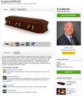 Funeral Package Page