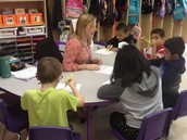 Highlighting phonics patterns with Mrs. Robinson.
