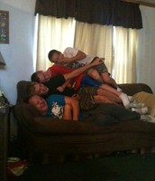 Me and my Brothers are having a dog pile.