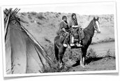 native Americans on a hoarse