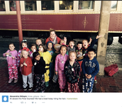 Kindergarten Rides The Polar Express