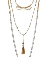 Ried layering necklace