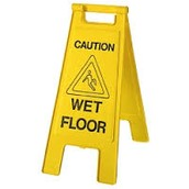 Stay clear of wet floors