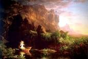"Thomas Cole, ""The Voyage of Life Childhood"""