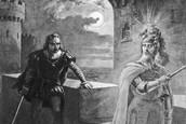The Ghost asks Hamlet to seek revenge for his murder