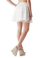 Flare Skirt w/ White Lace Overlay