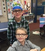 First grade students celebrated the 100th day of school on Monday this week.