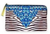 Capri Pouch - Jeweled Zebra was $36 now $28