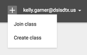 Plus Sign to Join Class