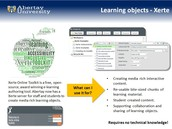 Creating learning objects using Xerte