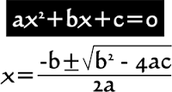 Solve By Using the Quadratic Formula